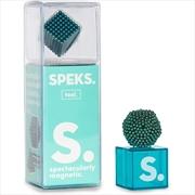 Solid Teal Speks Building Magnets | Toy