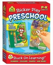 Sticker Play Preschool - 24 Interactive Flash Cards | Paperback Book