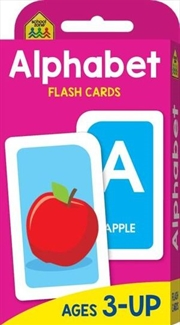 Alphabet : School Zone Flash Cards | Paperback Book