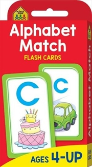 Alphabet Match : School Zone Flash Cards | Paperback Book