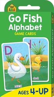 Go Fish Alphabet : School Zone Game Cards | Paperback Book