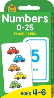 Numbers 0 - 25 : School Zone Flash Cards | Paperback Book