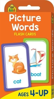 Picture Words : School Zone Flashcards | Paperback Book
