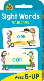Sight Words : School Zone Flash Cards | Paperback Book
