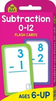 Subtraction 0-12 : School Zone Flash Cards | Paperback Book