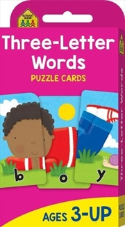 Three-letter Words : School Zone Puzzle Cards | Paperback Book