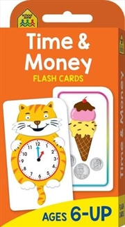 School Zone Flashcard Time And Money | Paperback Book