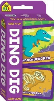 School Zone Dino Dig Flash Card Game | Merchandise