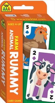 School Zone Farm Animal Rummy Flash Card Game | Merchandise