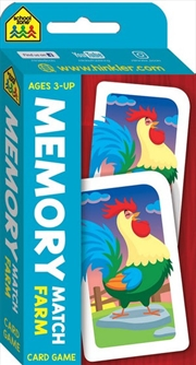 School Zone Memory Match Farm Flash Card Game | Merchandise