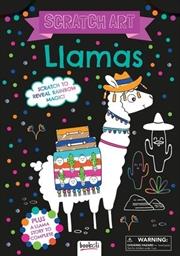 Scratch Art Llamas | Hardback Book