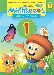 ABC Mathseeds Activity Book 1 Level 1 Ages 3-5   Paperback Book