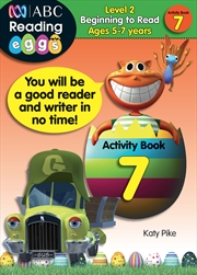 ABC Reading Eggs Level 2 Beginning to Read Activity Book 7 Ages 5-7 | Paperback Book