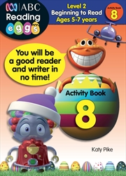 ABC Reading Eggs Level 2 Beginning to Read Activity Book 8 Ages 5-7 | Paperback Book