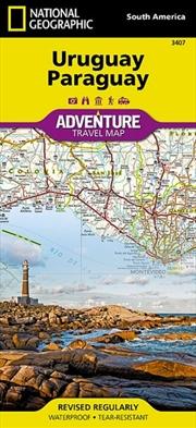 Uruguay Paraguay Adventure Map | Sheet Map