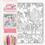 Fancy Flamingos - Children's Colouring Canvas | Colouring Book
