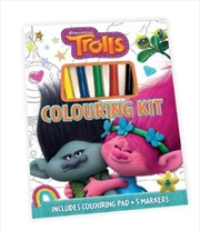 Trolls Colouring Kit | Hardback Book