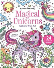 Colour Your Own Magical Unicorns Gallery Wall Art | Paperback Book