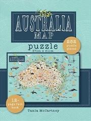 Australia Map Puzzle : Includes book & 250 piece puzzle | Merchandise
