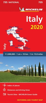 Italy 2020 Michelin National Road Map 735 | Sheet Map