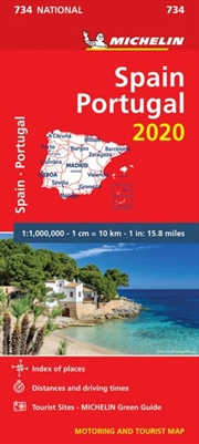Spain & Portugal 2020 Michelin National Road Map 734 | Sheet Map