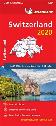 Switzerland 2020 Michelin National Road Map 729 | Sheet Map