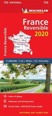 France Map: Reversible 2020 | Sheet Map
