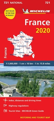 France 2020 Michelin National Road Map 721 | Sheet Map
