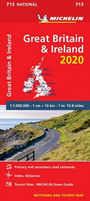 Great Britain & Ireland 2020 Michelin National Road Map 713 | Sheet Map