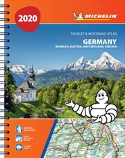 Germany, Benelux, Austria, Switzerland, Czech Republic Atlas 2020 Michelin Tourist & Motoring Atlas | Paperback Book