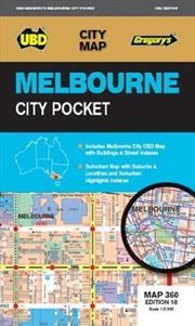 Melbourne City Pocket Map 360 18th ed | Sheet Map