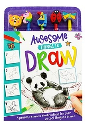 Awesome Things to Draw 5-Pencil Set | Hardback Book