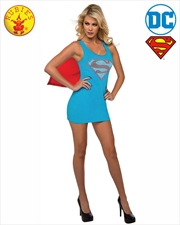 Supergirl Rhinestone Dress: Large | Apparel