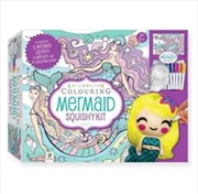 Colouring Mermaid Squishy Kit | Hardback Book
