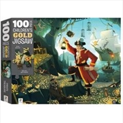 Pirate Treasure 100 Piece Children's Gold Jigsaw Puzzle | Merchandise