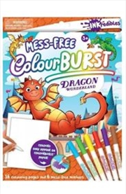 Inkredibles Colour Burst: Dragon Wonderland | Paperback Book