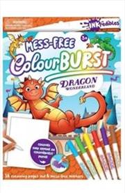 Inkredibles Colour Burst: Dragon Wonderland | Paperback Book