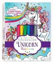 Kaleidoscope Colouring Kit: Unicorn Rainbows | Hardback Book