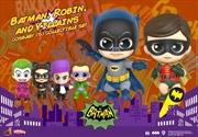 Batman (1966) - Batman, Robin, & Villains Cosbaby Set | Merchandise
