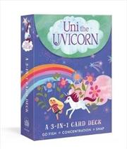 Uni The Unicorn - A 3-in-1 Card Deck | Merchandise