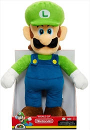World of Nintendo Jumbo Plush Luigi 12"