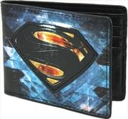 Man Of Steel Chromium Print Bi-fold Wallet   Apparel