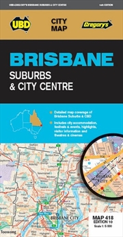 Brisbane Suburbs & City Centre Map 418 10th ed | Sheet Map