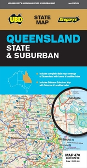 Queensland : State & Suburban - Map 470 | Sheet Map