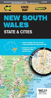 New South Wales State & Cities Map 219 9th Edition - Waterproof | Sheet Map