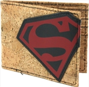 Superman Cork & Applique Bi-fold Wallet | Apparel