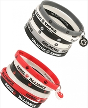 Star Wars x6 Empire/Rebel Rubber Wristband | Apparel