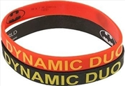 Batman Dynamic Duo Rubber Red/Black Wristband   Apparel