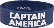 Captain America Navy Rubber Wristband   Apparel