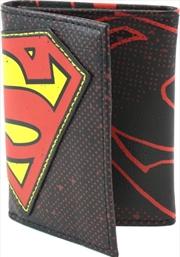 Superman Halftone Applique Tri-fold Wallet   Apparel